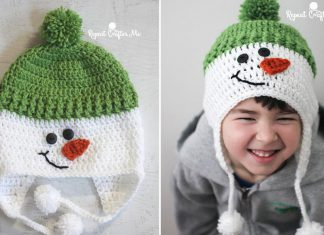 Christmas Snowman Hat Crochet Free Pattern