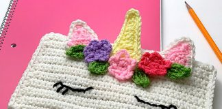 Unicorn Pencil Bag Crochet Free Pattern