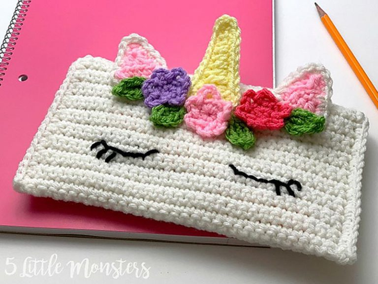 Unicorn Pencil Bag Crochet Free Pattern