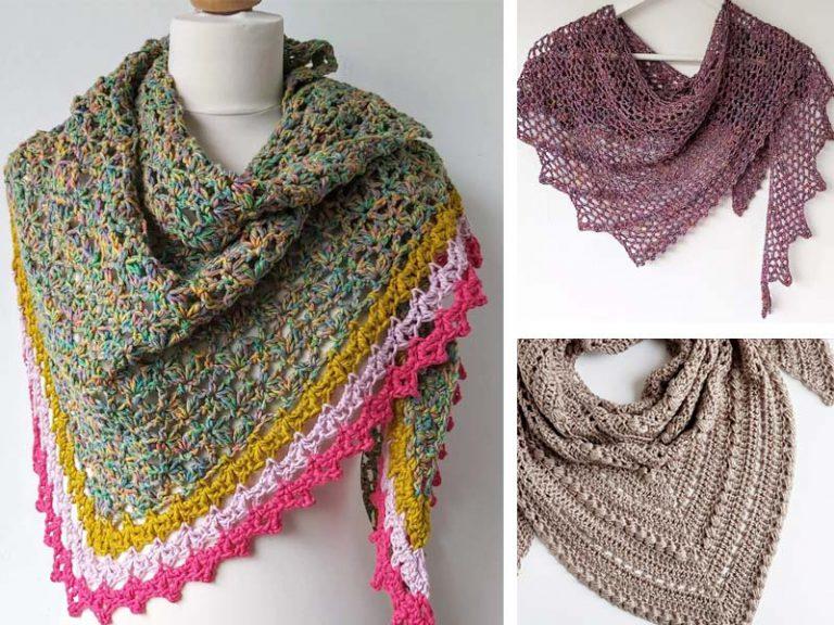 The 3 Easy Crochet Triangle Shawl Free Pattern