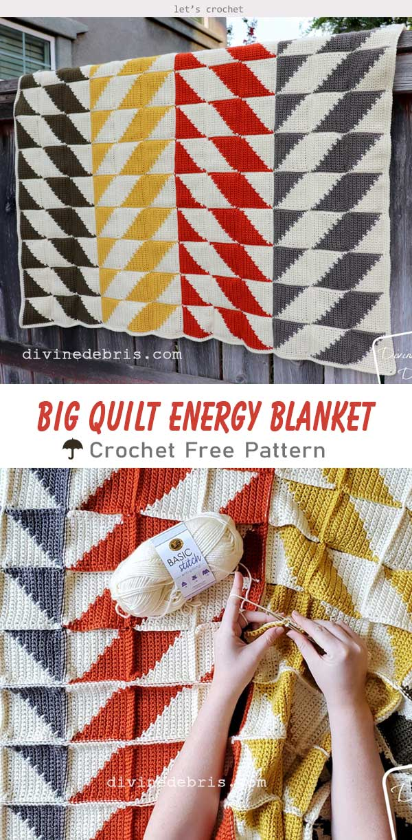 Big Quilt Energy Blanket Crochet Free Pattern