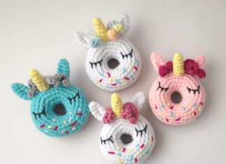 Unicorn Donut Amigurumi Crochet Free Pattern