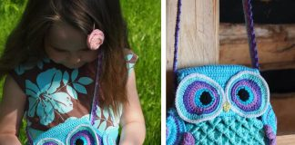"Owl Purse ""Blue Dreams"" Crochet Free Pattern"