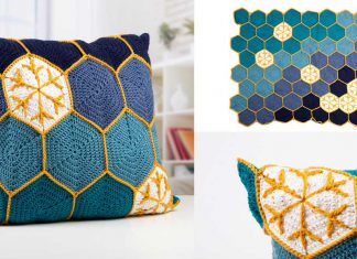 Starry Night Blanket & Cushion Set Crochet Free Pattern