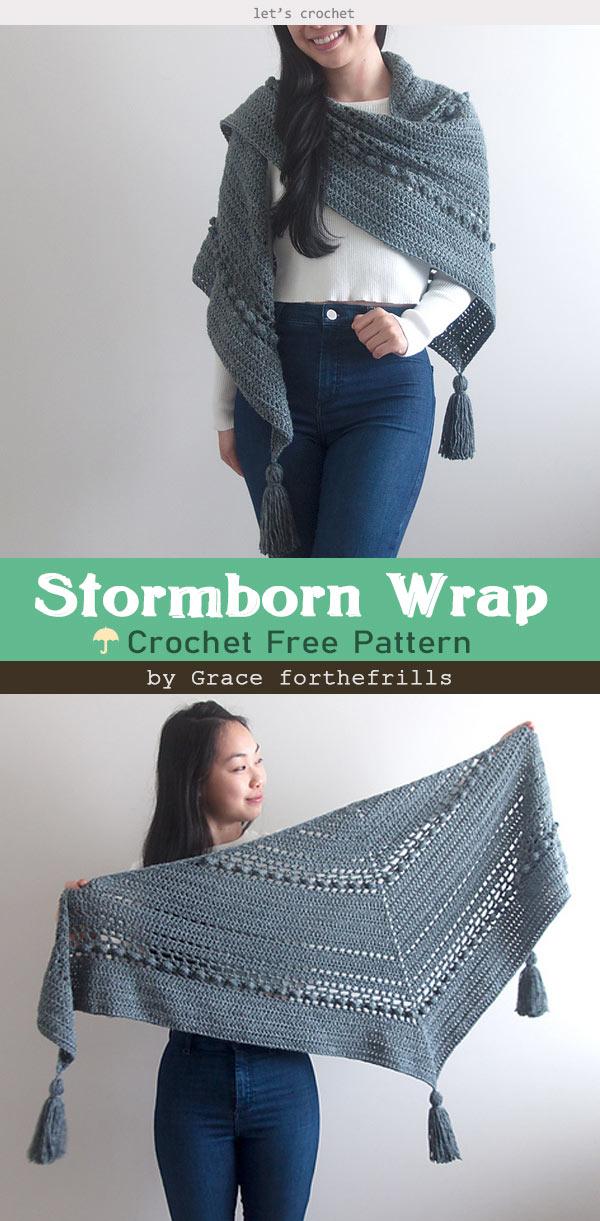 Stormborn Wrap Crochet Free Pattern