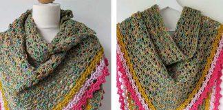 Easy Crochet Triangle Shawl Free Pattern