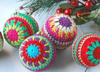 Christmas Baubles Crochet Free Pattern