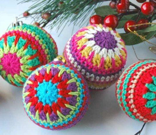 Christmas Baubles Crochet Free Pattern