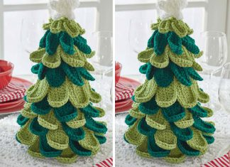 Merry Christmas Tree Crochet Free Pattern