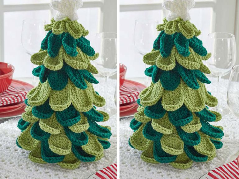 Merry Christmas Tree Crochet Free Pattern
