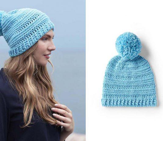 Warmth Horizon Hat Crochet Free Pattern
