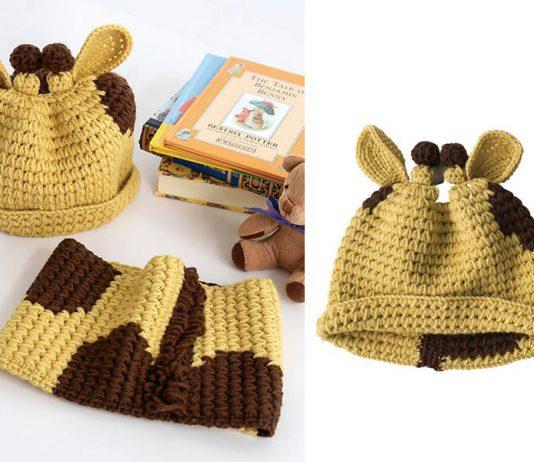 Giraffe Hat Free Crochet Pattern