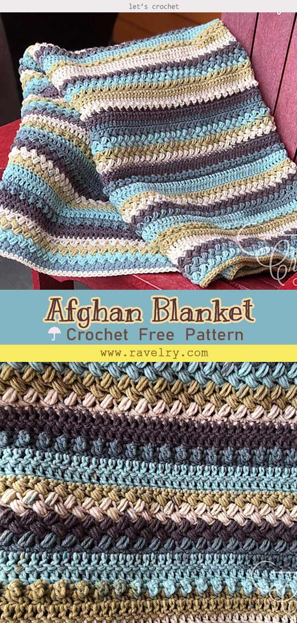 Sleepy Blocks Afghan Blanket Free Crochet Pattern