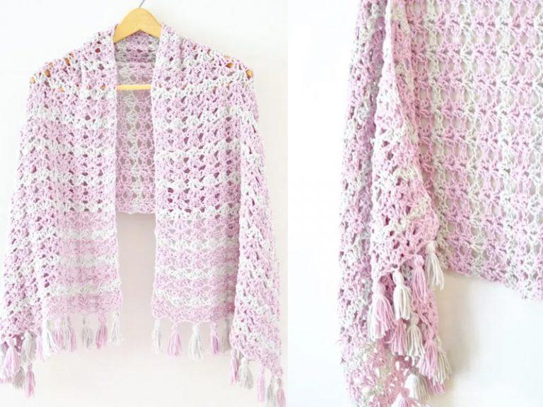 The Summer Iris Shawl  Free Crochet Pattern