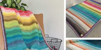 Rainbow Blanket Crochet Free Pattern