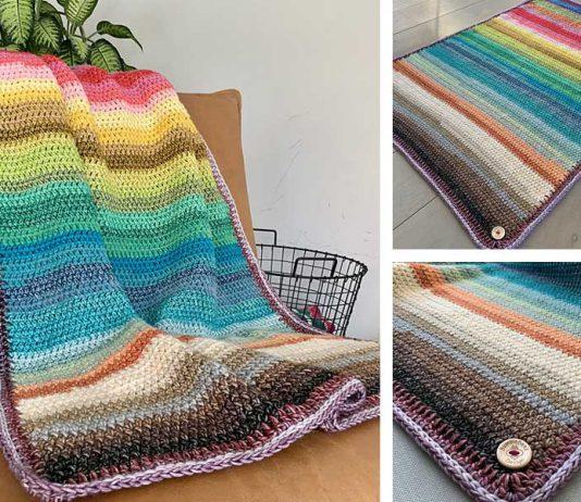Rainbow Blanket Crochet Free Pattern