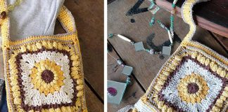 Boho Sunflower Bag Free Crochet Pattern