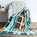 Granny Stripes & Squares Blanket Free Crochet Pattern