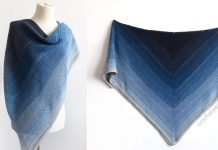 Lake Midnight Shawl Free Crochet Pattern
