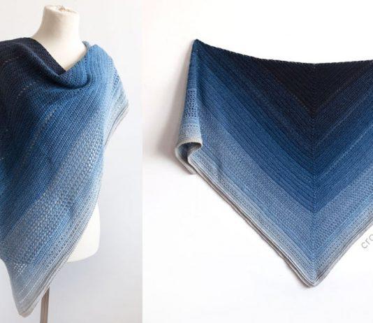 Lake Midnight Shawl Free Crochet Pattern