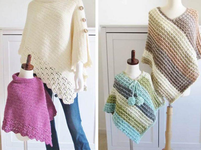 Kid's Crochet Poncho Free Pattern