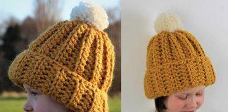 Kids Ribbed Hat – Free Crochet Pattern