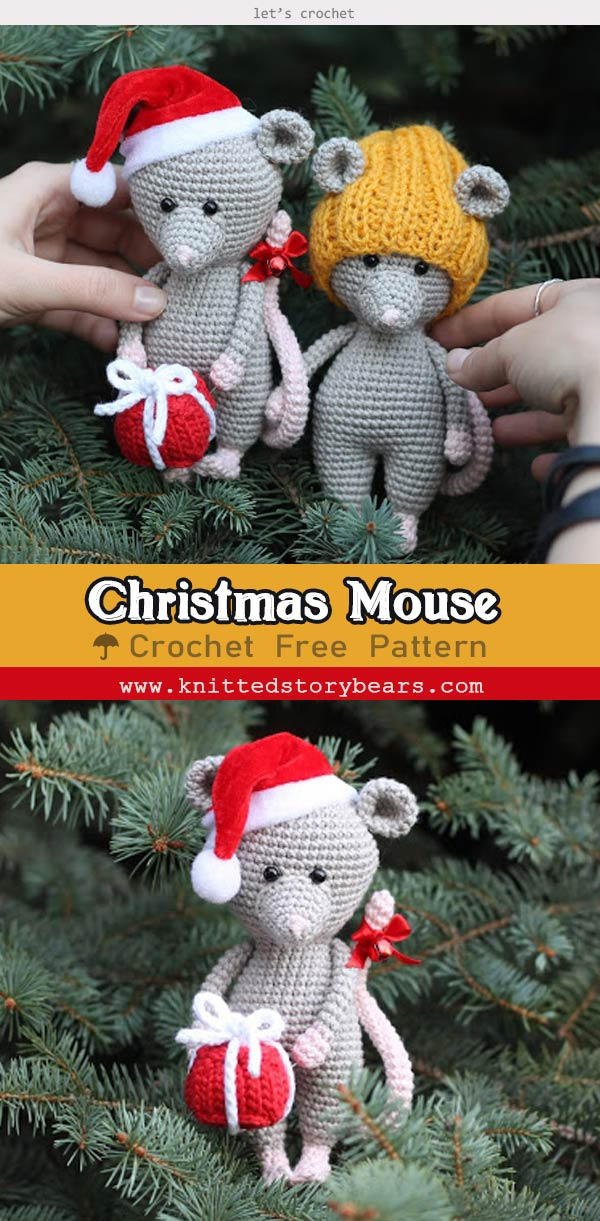 Christmas Mouse Crochet Free Pattern