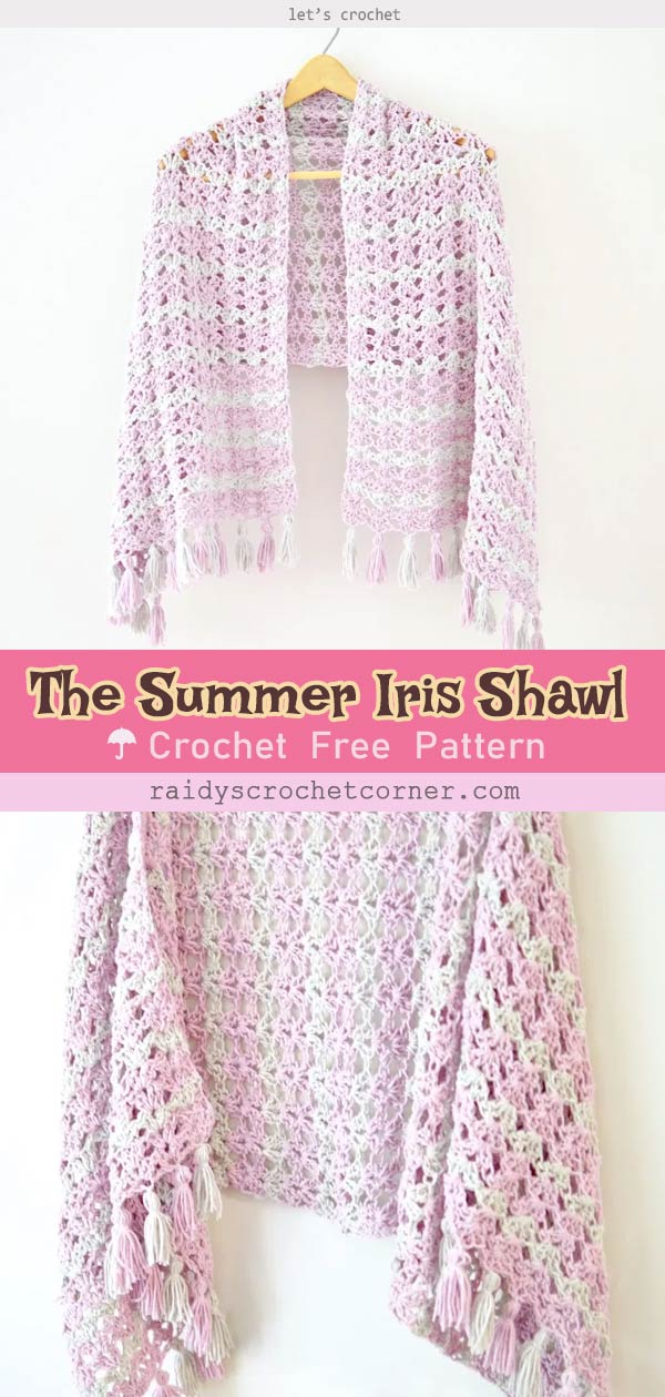 The Summer Iris Shawl Free Crochet Pattern