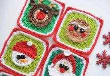 Christmas Spirit Squares Crochet Free Pattern