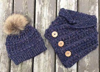 Rustic River Cowl Free Crochet Pattern