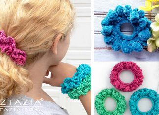 Double Scrunchie Free Crochet Pattern