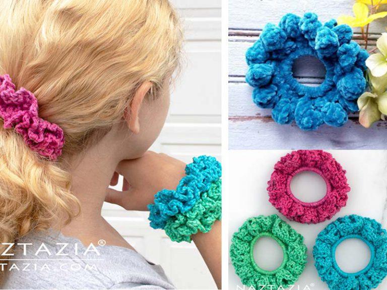 Double Scrunchie Free Crochet Pattern