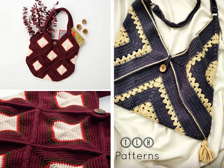 2 Granny Market Bag Free Crochet Pattern