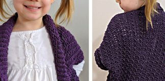 The Ragged Falls Cocoon Shrug Free Crochet Pattern