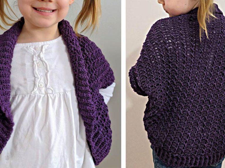 The Ragged Falls Cocoon Shrug Free Crochet Pattern