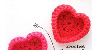 The Heart Storage Basket Free Crochet Pattern