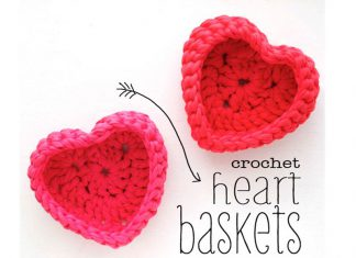 The Heart Storage Basket Free Crochet Pattern