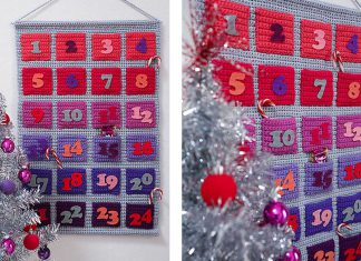 Modern Advent Calendar Free Crochet Pattern