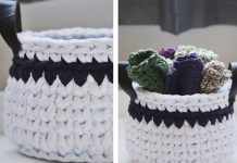 Spa Basket & Washcloths Free Crochet Pattern