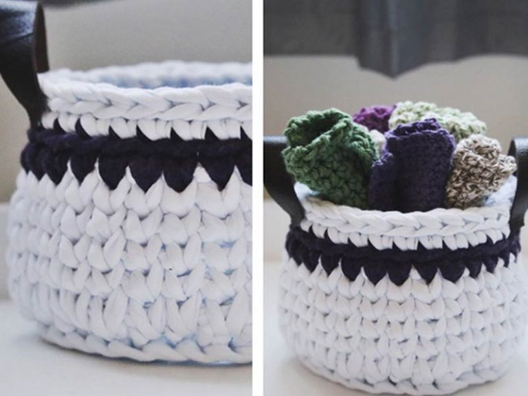 Spa Basket & Washcloths Free Crochet Pattern