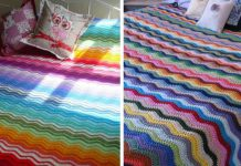Neat Ripple Rainbow Blanket Free Crochet Pattern