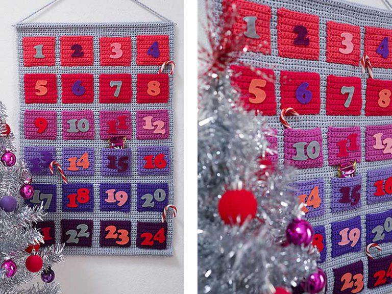 Modern Advent Calendar Free Crochet Pattern