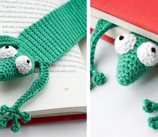 Gecko Bookmark Free Crochet Pattern