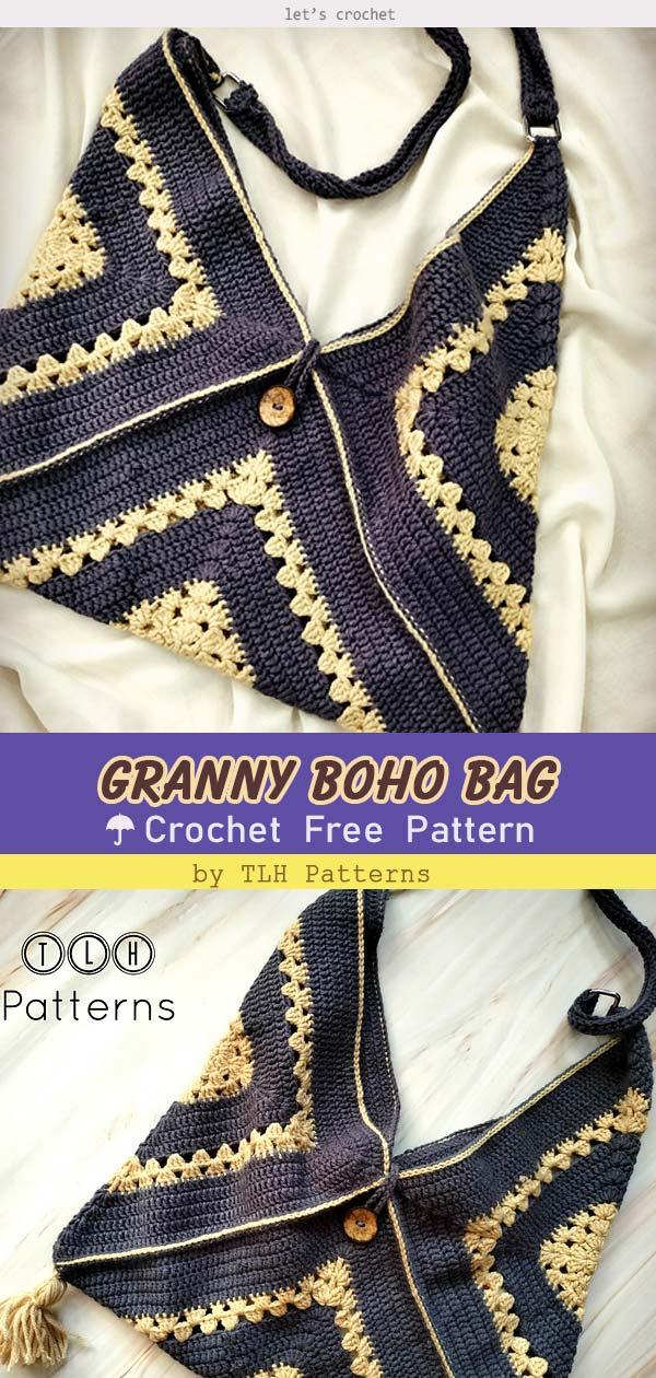 Granny Boho Bag Free Crochet Pattern