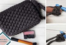 Wristlet purse bag crochet free pattern