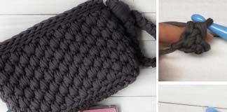 Wristlet purse bag crochet free pattern