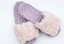 Crochet Pink Slippers Free Pattern