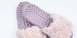 Crochet Pink Slippers Free Pattern
