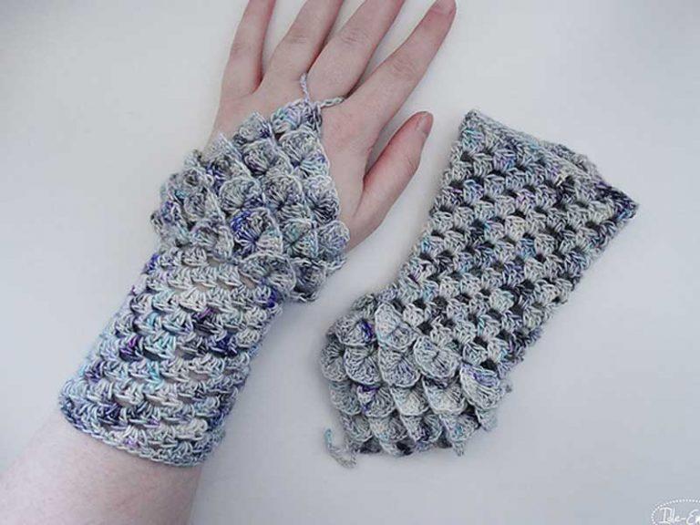 Crochet Basic Granny Dragon Fingerless Gloves Free Pattern