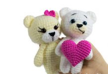 Crochet Bear With Heart Free Pattern